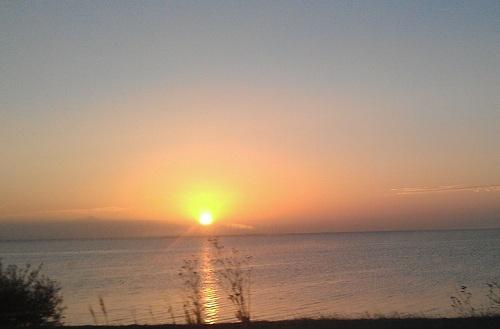 San Francisco Bay sunrise - California - near Candlestick point