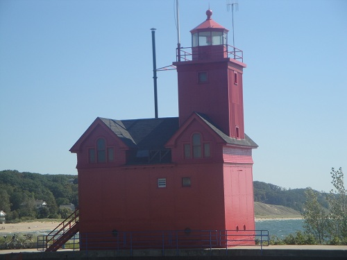 Capturing the Color Red - Holland Lighthouse, Michigan, Big Red