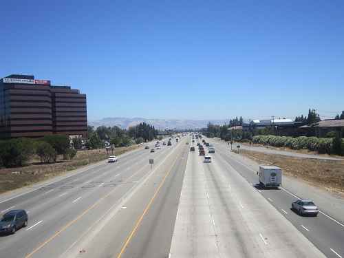U.S. Route 101 in Silicon Valley, California