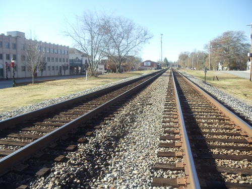 Railroad track - historic Buford, Georgia