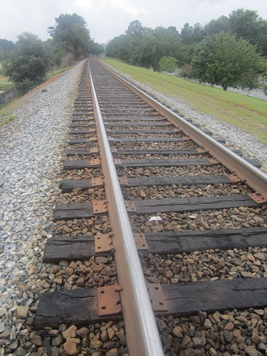 Railroad track - historic Old Town, Suwanee, Georgia