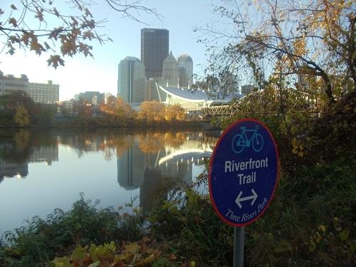 Pittsburgh, Autumn, skyline, allegheny River