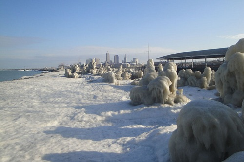 Winter in Cleveland, Lake Erie