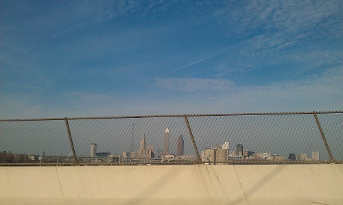 Cleveland, Ohio skyline - I-490 interstate