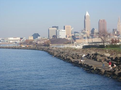 Cleveland, Ohio skyline - Edgewater Park
