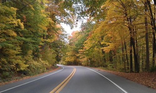Northville, Michigan Autumn open road