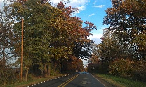 Parshallville, Michigan Autumn open road