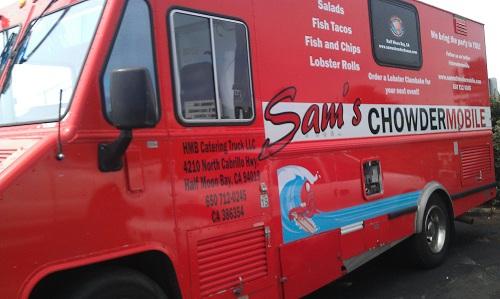 Sam's Chowder House, Half Moon Bay, California, PCH, Chowdermobile