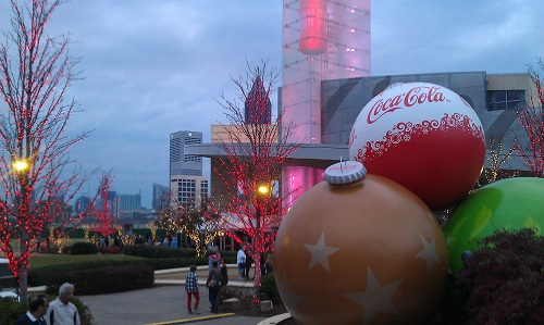 Pemberton Place during the holidays in Atlanta