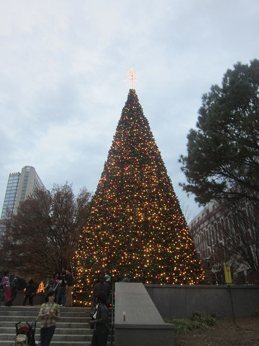 Pemberton Place during the holidays in Atlanta