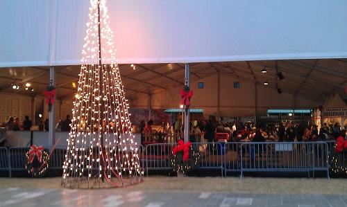 Centennial Park in Atlanta during the holidays