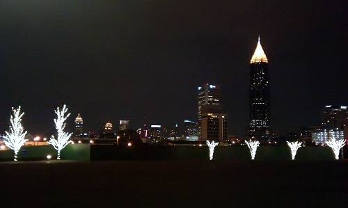 Centennial Park in Atlanta during the holidays