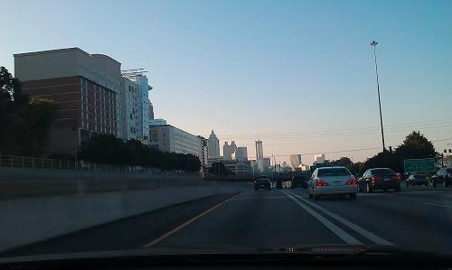 Atlanta - Midtown, carpool lane
