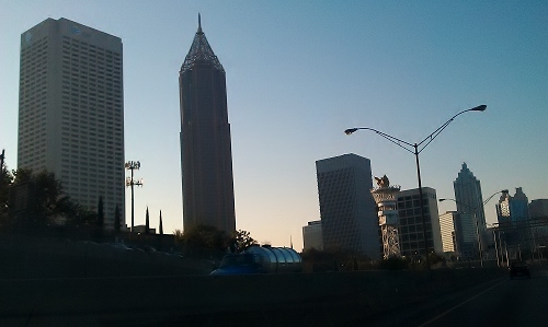 Atlanta - Midtown skyline, Olympic torch