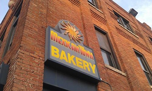 Detroit, Mexicantown neighborhood, bakery