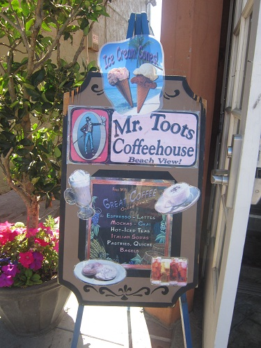 Capitola, coffee, Mr. Toots coffeehouse, California
