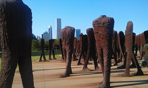 Chicago, Agora Sculptures, Grant Park