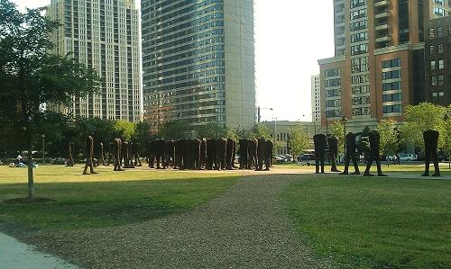 Chicago, Agora Sculptures, Grant Park