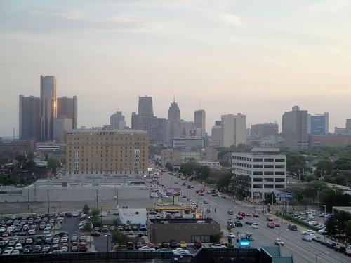 Detroit, Michigan day time skyline