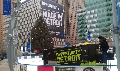 Detroit, Michigan 2012 holidays - Campus Martius Park