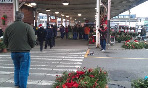 Detroit, Michigan Eastern Market - holiday season