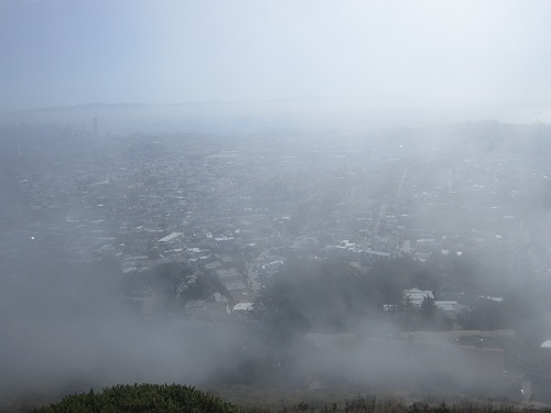 San Francisco, Twin Peaks, California, fog