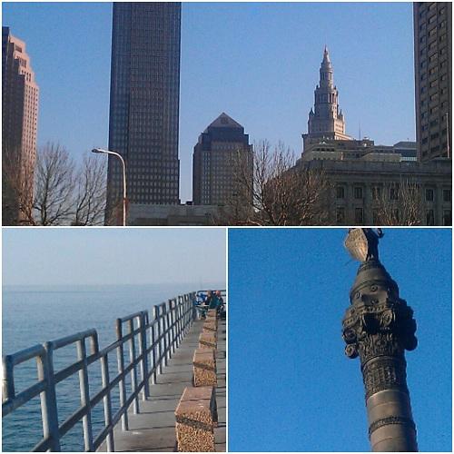 Cleveland, Ohio collage using Diptic, Instagram
