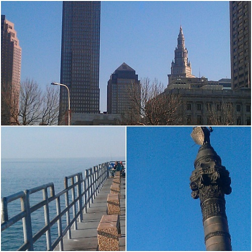 Cleveland, Ohio collage using Diptic, Instagram
