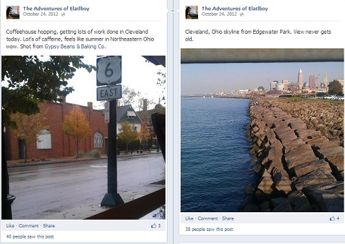 Cleveland shots on Facebook fan page