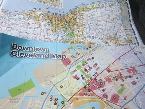 Rand McNally Ohio map, atlas, Cleveland city map