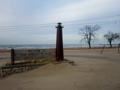 Muskegon, Michigan, Lake Michgan, Pere Marquette Park