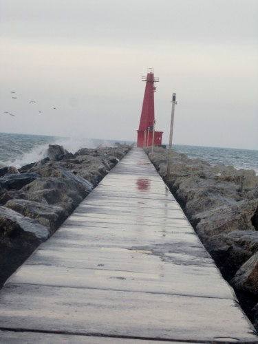 Muskegon, Michigan, Lake Michgan, pier, lighthouse