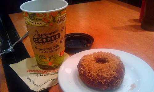Zingerman's Roadhouse, Ann Arbor, Michigan, homemade donut, coffee
