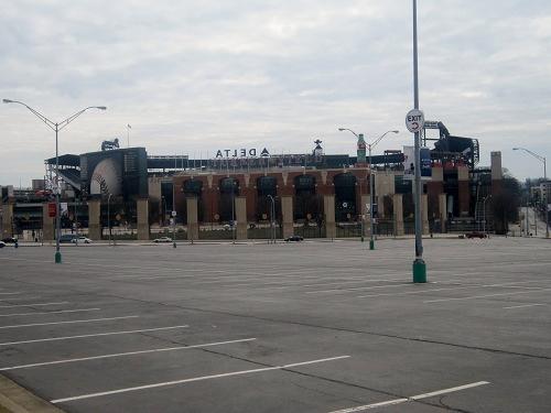 Atlanta Turner Field from Fulton County Stadium parking lot