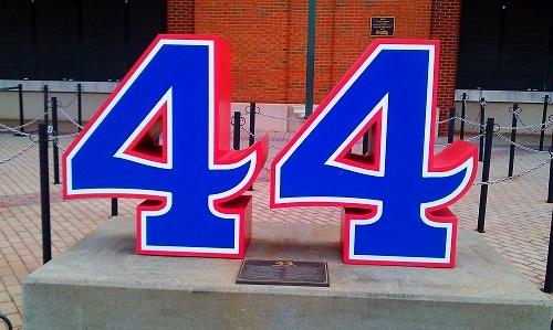 Atlanta Turner Field, Braves history, Hank Aaron #44