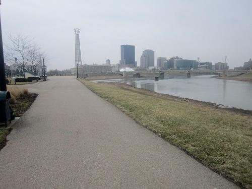 Daytona, Ohio, skyline, Deeds Park