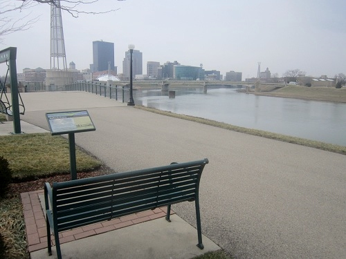 Daytona, Ohio, skyline, Deeds Park