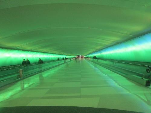 Light Tunnel, McNamara Terminal, Detroit Metro Airport, Michigan