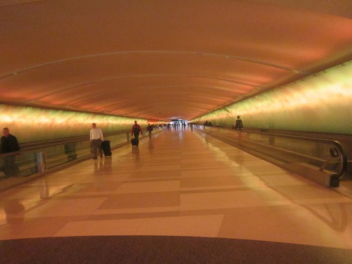 Light Tunnel, McNamara Terminal, Detroit Metro Airport, Michigan
