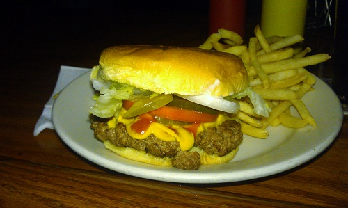 Fully loaded Cheeseburger at Zip's Cafe, Cincinnati