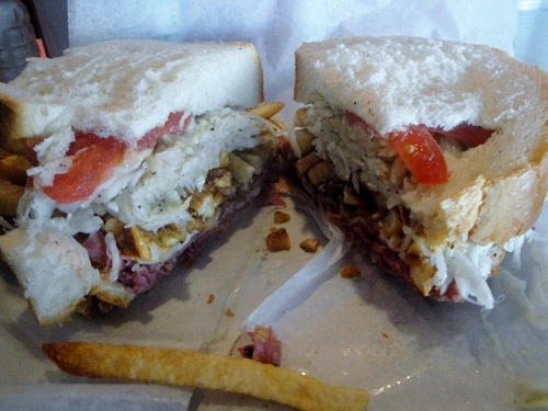 Corned Beef and Cheese sandwich at Primanti Bros., Pittsburgh