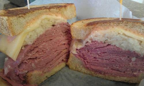 Triple Threat Corned Beef, Maize and Blue Delicatessen, Ann Arbor, Michigan