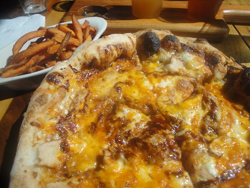 BBQ Chicken Pizza at The Terminal Brewhouse in Chattanooga, Tennessee