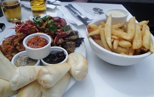 Sample Platter & Frites at The Malt Bar in Auckland, New Zealand