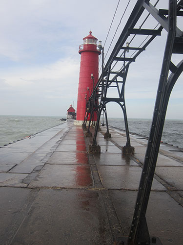 Grand Haven Lighthouse, pier, Michigan, Lake Michigan