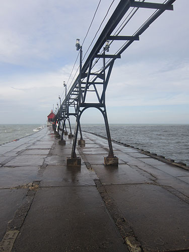 Grand Haven Lighthouse, pier, Michigan, Lake Michigan