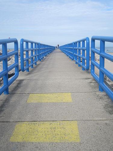 Holland, Michigan, north pier, Lake Michigan
