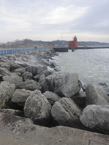 Holland, Michigan, Big Red lighthouse, Lake Michigan