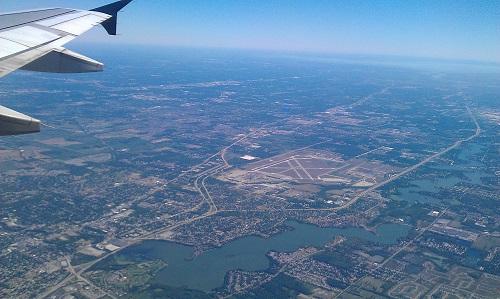 Ypsilanti, Michigan from the friendly skies