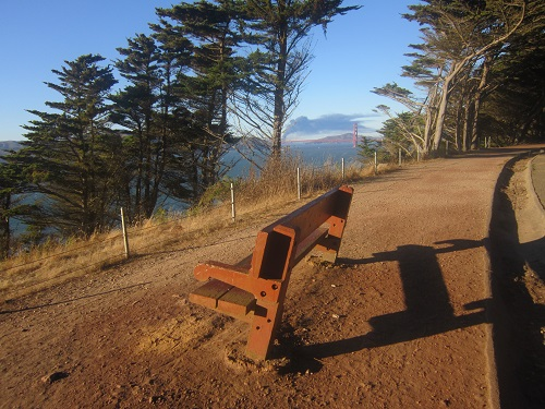 Romantic Park Bench, Lands End, San Francisco, Cailifornia